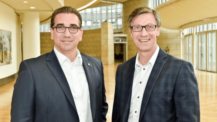 (v.l) Landtagsabgeordnete Guido Déus, MdL und Dr. Christos Katzidis, MdL