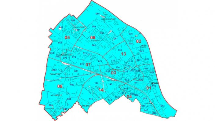 Wahlkreis 29 Bonn I: Stadtbezirk Bonn