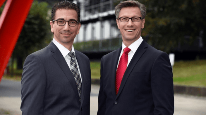(v. l.) Guido Déus MdL und Dr. Christos Katzidis MdL