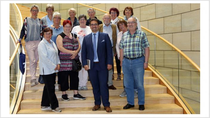 Guido Déus MdL mit der Besuchergruppe aus Bonn (Quelle: Volker Zierhut CDU-Landtagsfraktion)
